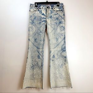 RARE Free People Discharge Bali Flare Jeans